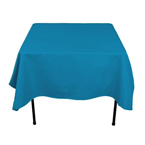 Gee Di Moda Square Tablecloth - 70 x 70 Inch - Caribbean Square Table Cloth for Square or Round Tables in Washable Polyester - Great for Buffet Table, Parties, Holiday Dinner, Wedding & More -