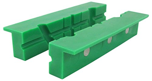 "ION TOOL Universal Multi-Groove Vise Jaws, Synthetic Rubber Jaws 6"" Green Barrel Synthetic Stock"