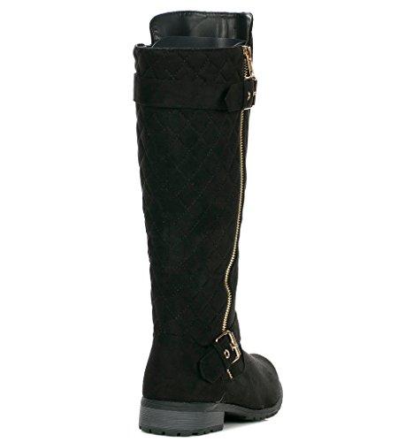Forever Link Mango-21 Damen Boot Schwarz-s