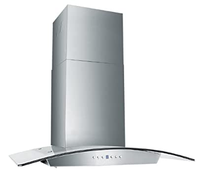 Z Line KZ-30-LED Stainless Steel and Glass Range Hood, 30-Inch