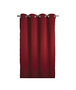 Street Home 96716 Rideau Occultant Rouge en Polyester, 140X250 cm ...