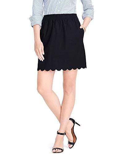 J.Crew Scalloped Sidewalk Lined Mini Skirt with Pockets (Black, 6)