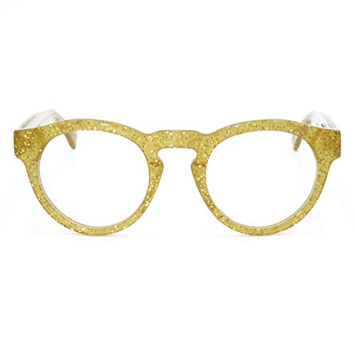 GoldLyfe - Gold Glitter Glasses - Handmade Acetate Optical Frames - Includes Luxurious Case ()