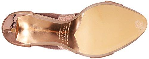 Ted Baker Women's Leniya Lthr AF Formal Shoe Dress Sandal, Rose Gold, 9.5 M US