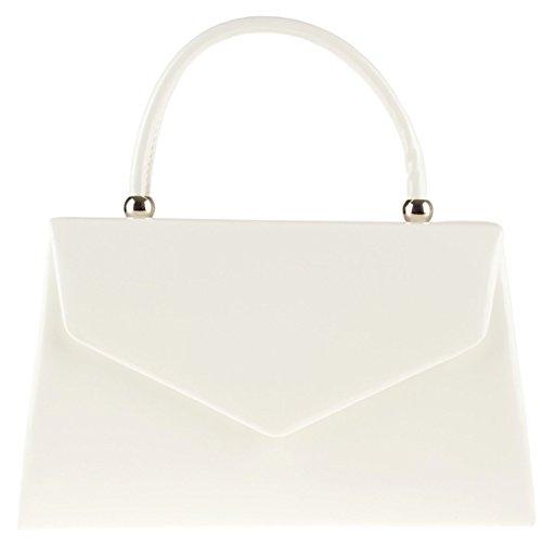 Sweet Bags Bag Clutch Bag Sugar Evening White Rigid Ladies Leather K41088 Patent Handbag Box Faux dpnq5U