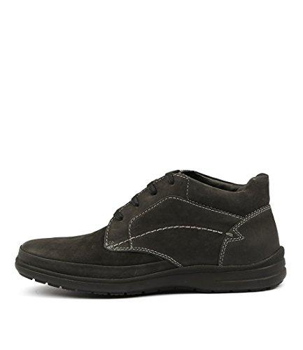 Hush Puppies Prague-HP Black Mens Sneakers Mens Sport Shoes Black Leather