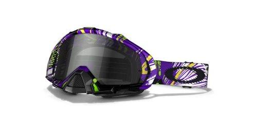 Oakley Mayhem MX Goggles with Dark Grey Lens (Pop Art Purple (Goggles Pop)