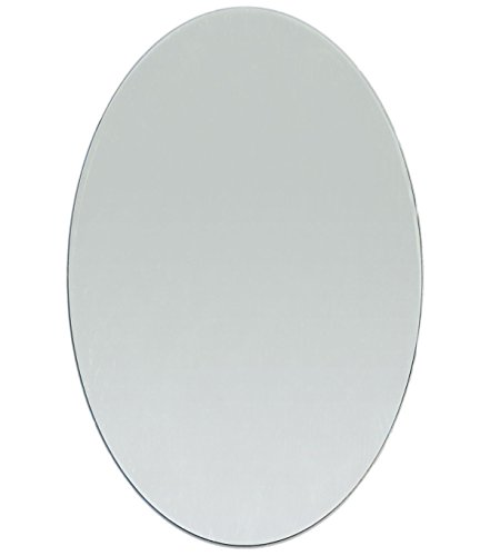 - 8 x 6 Inch Glass Craft Oval Mirrors Bulk 12 Pieces Mirror Mosaic Tiles