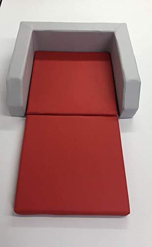 Krippenbett mit Einstieg grau//rot
