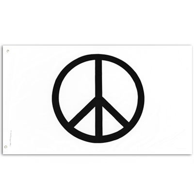 Brass Peace Sign - Peace Sign Flag (3 ft. x 5 ft.)