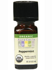 Aura Cacia Peppermint Essential Oil - Perfume Natural Cacia Aura