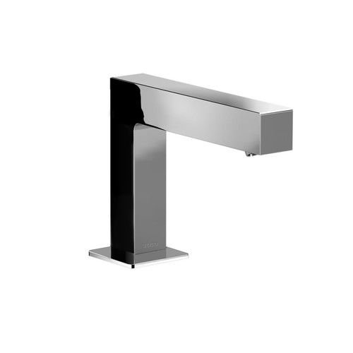 Ecopower Electronic Lavatory Faucet - Toto TEL141-D10E Axiom Single Hole Bathroom Faucet with EcoPower Technology, Polished Chrome