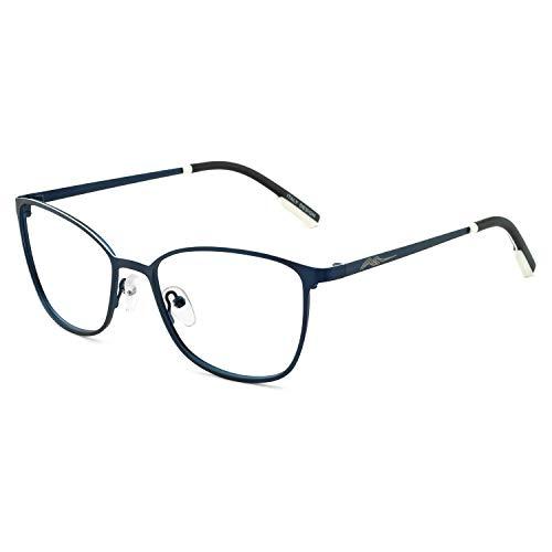 OCCI CHIARI Non-Prescription Glasses Frame Fashion Metal Eyewear Women Men's Eyeglasses Clear Lense ()