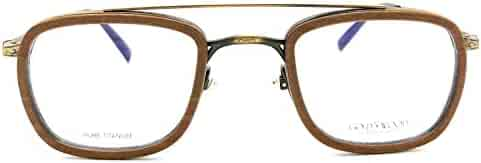 d229aab10077 Gold and Wood Titan 05 02 in Antique Gold and Chestnut Tanganyika Wood  Eyeglasses