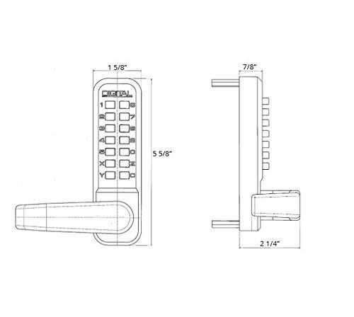 2835MG Mechanical, Keyless Lever Lock by Lockey USA (Image #3)