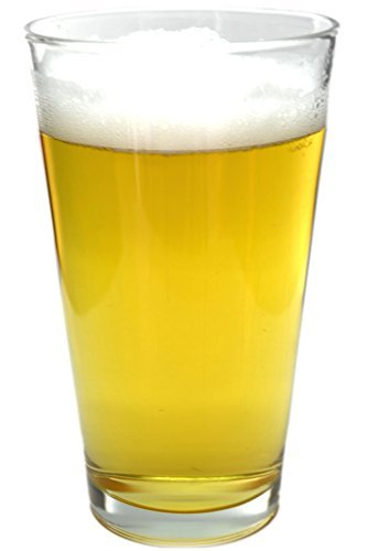 James Scott Beer Glass Set - 4 Pack - Holds a full Bottle of Beer up to 16-ounces - Shatter-Resistant, Great for Pubs, Bars, Restaurants
