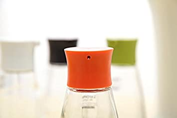 Amarillo Hosaire Aceite de oliva dispensador de a prueba de fugas botella de cristal aceite vinagre Pot Salsa de soja vinagrera condimento almacenamiento