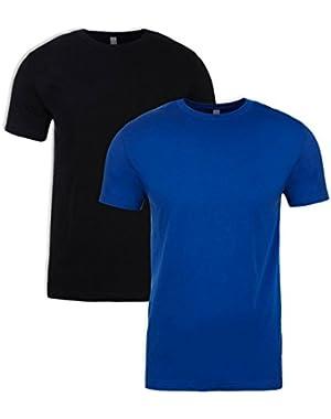 N6210 T-Shirt, Black + Royal (2 Pack), XXX-Large