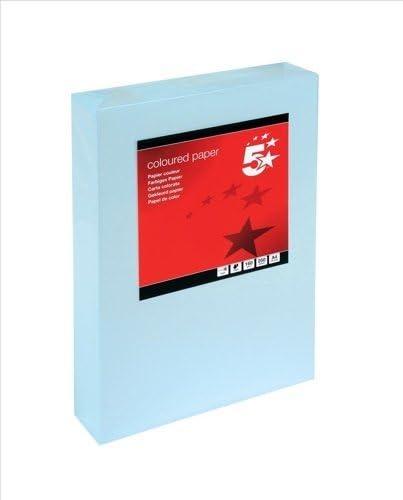 5 Star Mehrzweckkarton, 160 g/m², A4, Hellblau, 250 Blatt