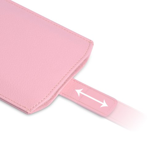 iPhone 5 Tasche Hellrosa PU Leder Beutel Hülle Caseflex Mit Automatischer Rückkehr Registerkarte