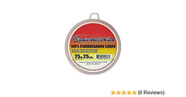 EXCELLENT OHERO 100/% FLUOROCARBON LEADER LINE 50 YARD SPOOL CLEAR