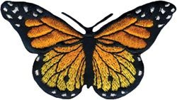 Wrights Bulk Buy Iron-On Appliques-Monarch Butterfly 3 inch x 1-3/4 inch 1 Pack (3-Pack)