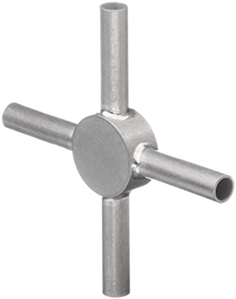 STC-09/4 Stainless Steel Hypodermic Tube Fitting, Cross, 9 Gauge