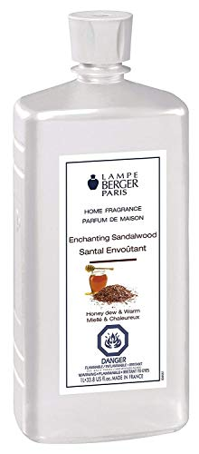 Enchanting Sandalwood | Lampe Berger Fragrance Refill for Home Fragrance Oil Diffuser | Purifying and perfuming Your Home | 33.8 Fluid Ounces - 1 Liter | Made in -