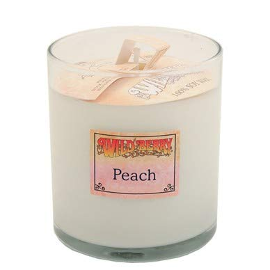 - Peach (+Apricot+Mango+Black Currant) Scented Candle 8oz, Glass Tumbler, Soy Wax