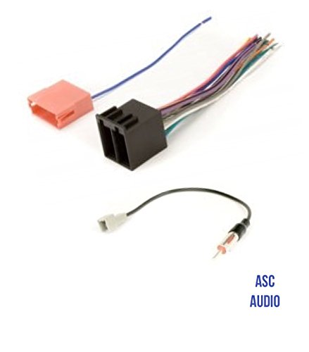ASC Audio Car Stereo Radio Wire Harness and Antenna Adapter to Aftermarket Radio for some Kia and Hyundai Vehicles.- vehicles listed below