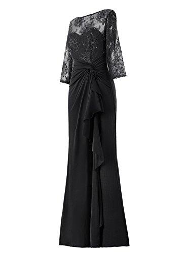 Noir Sol Soirée Robe Du Tenue Ras Demoiselle Longueur Cérémonie De Dresstells Mariage D'honneur wSOHq