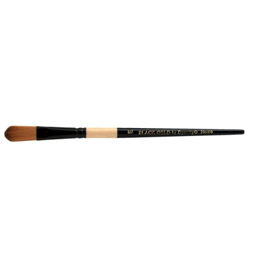 Dynasty Black Gold Series Synthetic Brushes Short Handle 1/2 in. oval wash