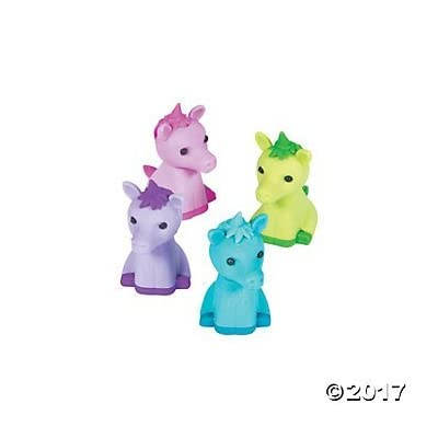 MCTOY 8 Piece Mythical Unicorn Puzzle Erasers - 8 Individual Unicorn Erasers Per Sale: Toys & Games