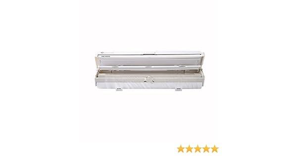 Lakeland Wrapmaster Dispenser - Dispensador de film transparente (para rollos de 30 cm x 20 m, para montaje, 37 x 9 x 6 cm), color blanco: Amazon.es: Hogar