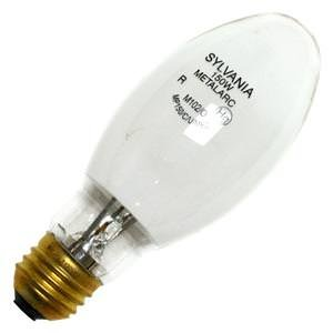 SYLVANIA 64406 - 150 Watt - E17 - METALARC PRO-TECH - Pulse Start - Metal Halide - Protected Arc Tube - 2900K - Medium Base - White Coated - ANSI M102/O - Universal Burn - MP150/C/U/MED