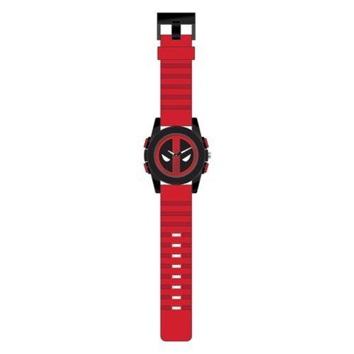 (Deadpool Logo Dial Black Sport Case Red Strap)