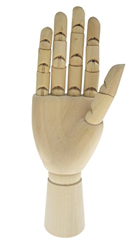 Art Mannequin Hand-Wooden Pine Movable Hand Joint Model For Sketch Drawing Painting Reference Home Decor (Right, 18CM) by Arsdoll