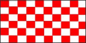 Novelties DIRECT quadretti rossi e Bianco Bandiera 5ft x 3ft (100% poliestere) con occhielli per appenderla MIdland
