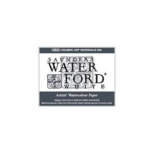 홀베인 워터 포드 수채화 용지 블록 중 종이 300g (중 두께 입) 몹시 눈 화이트 12 장 제본 270-954 EHBR-F6