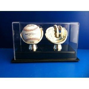 Golden Glove Ball Case - Double - Sports Memoriablia Display Case.
