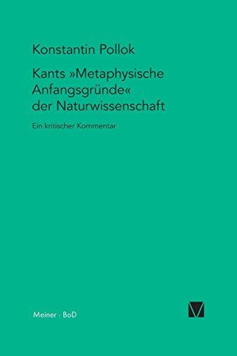 Kants Metaphysische Anfangsgrunde Der Naturwissenschaft  [Pollok, Konstantin] (Tapa Blanda)