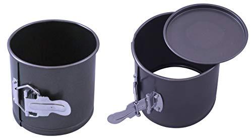 (Paderno World Cuisine A4775411 Mini Springform, Deep, Non-Stick, Set of 2, Black)