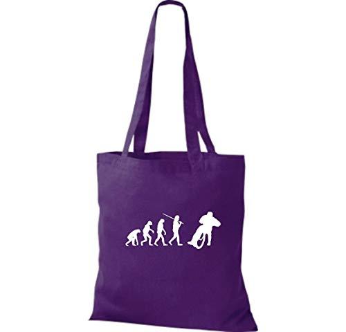 Bolso Shirtinstyle De Para Algodón Púrpura Mujer Tela Morado 1wdwSc6q