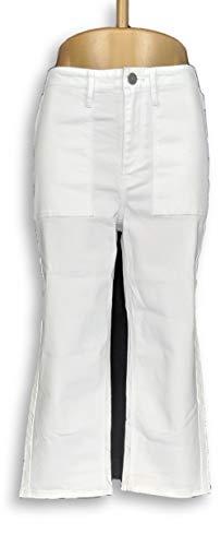Susan Graver Women's Jeans Size 4 Stretch Twill Capris White A304080