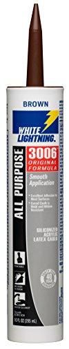 White Lightning W12003010  3006 All Purpose Adhesive Caulk, Brown, 10 OZ