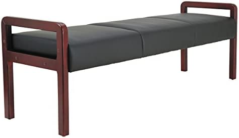 Alera ALE Reception Lounge WL Series Bench, 65 3 4 x 22 1 4 x 22 7 8, Black Mahogany