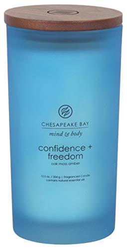 Chesapeake Bay Candle Scented Candle, Confidence + Freedom (Oak Moss Amber), Large