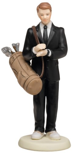 Weddingstar Golf Fanatic Groom Mix & Match Cake Topper - (Caucasian Groom)