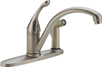 Delta Classic Single Handle Water-Efficient Kitchen Faucet With Integral Spray