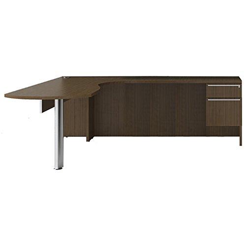 (Cherryman Verde Collection 72†Laminate Right arcEnd L-Desk, 42